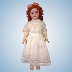 "Huge CM Bergmann/Simon & Halbig 28"" Antique Bisque Doll in Fiery Ginger Wig"