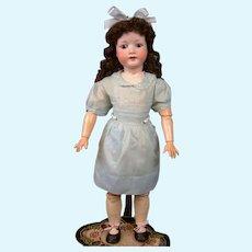 "Charming Heubach Koppelsdorf 302 27"" Antique Bisque Doll in Blue"