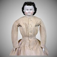 *Adelina Patti* Antique China Lady Doll in Antique Costume 17.5""