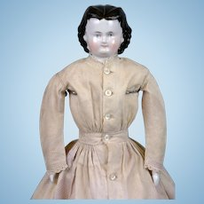 """*Adelina Patti* Antique China Lady Doll in Antique Costume 17.5"""""""