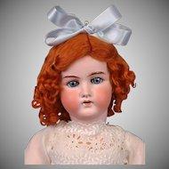"Endearing William Goebel Antique Bisque Doll in Antique Costume 23.5"""