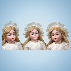 """27"""" Santa Child Doll by Simon & Halbig for Hamberger & Co circa 1900 in Antique Whites"""