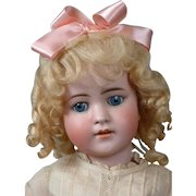 """Simon & Halbig 550B Antique Bisque-Head Doll 22.5"""" in Antique Costume"""