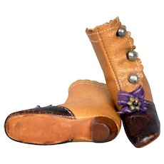 """Size 5 Antique French Fashion Shoes for Antique Dolls 12-14"""""""