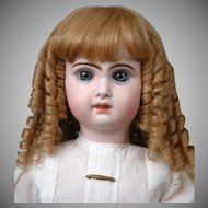 "Outstanding Strawberry Blond Original French Antique Bebe Hand-Tied Wig  Fits 11""-13"" Head Circ.~Perfect!"