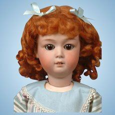 "Gebruder Heubach 8192 19"" Antique Bisque Doll in Ginger Wig"