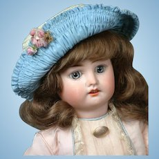 """Adorable 16"""" Fleischmann & Bloedel French Bebe Walker Doll circa 1910--Charming!"""