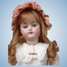 """*The Sweet* 22"""" Kestner 168 Antique Bisque Doll In Antique Costume and Shoes--Stunning!"""