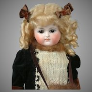 "20.5"" Kestner Turned  Shoulderhead Girl with Closed Mouth, Beautiful Costume"