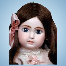 """23"""" All Antique Jules N. Steiner, Fre. A with Exceptional Quality Bisque & Big Blue  PW Eyes! WoW!"""