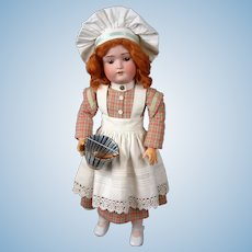 "Kestner 168 ""Chef"" Antique Bisque Doll 21"" on Signed Kestner Body"