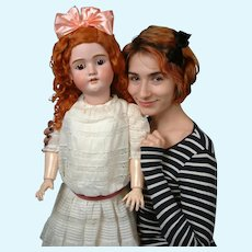 """Outstanding Life-Sized 35"""" HUGE and Chunky """"Walkure"""" by Kley & Hahn Antique Doll-"""