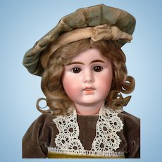 """Gebruder Kuhnlenz 16.5"""" Antique German Bisque Doll for The French Trade"""