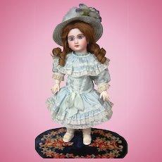 "Precious 16.5"" Bebe Jumeau Open Mouth Circa 1897 In Party Dress"