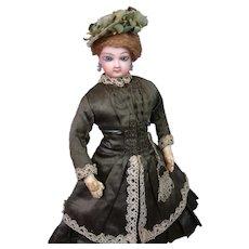 "*Angelic* Jumeau Poupee Fashion Lady in Original Enfantine Costume 14"""
