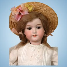 *The Dearest* Armand Marseille 390n Antique Bisque Doll in Original Wig 20""