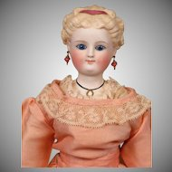 *Fair Lady* Antique Parian Lady with Blond Updo & Antique Silk Ensemble 17""