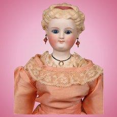 """*Fair Lady* Antique Parian Lady with Blond Updo & Antique Silk Ensemble 17"""""""