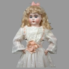 """23"""" All Original Turned Head Kestner with Pin- Jointed Pink Kid Body—PERFECT!"""