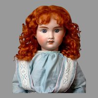 "Jules Verlingue ""Petite Francaise"" French Bebe Antique Doll 24.5"" in Ginger Curly Wig"