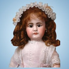 "17"" Simon & Halbig 949 with Pouty Closed Mouth, Lovely Antique Costume"