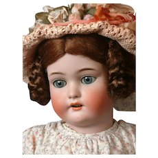 Exquisite Simon & Halbig 1078 Antique Bisque Doll in Adorable Costume 22""