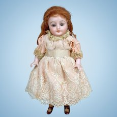 """5.5"""" Antique All Bisque Simon and Halbig 891 Doll w/ ~Rare Molded Stockings! And Glass Eyes~"""