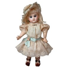 """RARE Diminutive 10.75"""" Size 2 Tete Jumeau Bebe  With Antique French Shoes & Original Wig--So Sweet!!"""