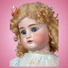 """Kammer & Reinhardt / Simon & Halbig 31"""" Antique Bisque Doll with Blond Curls"""