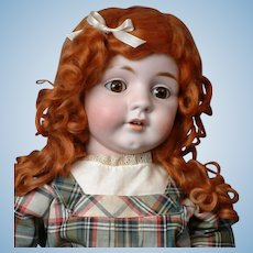 "Rare Huge 28"" Antique Kestner 143  Character Doll in Stunning antique Schoolgirl Dress!"