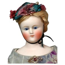 "15"" Enchanting Simon & Halbig Fashion Poupee in Antique Enfantine Silk Dress--Just Supreme!"