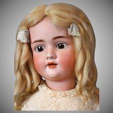 """HUGE 33.5"""" Walkure by Kley & Hahn Antique Bisque German Doll in Silk Dress"""
