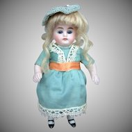 "7"" Adorable Antique All Bisque Kestner Doll with Glass Sleep Eyes!"