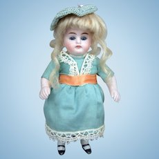 """7"""" Adorable Antique All Bisque Kestner Doll with Glass Sleep Eyes!"""