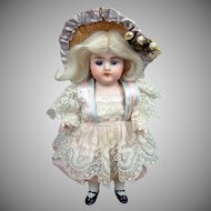 "7"" Strobel & Wilken 257 All Bisque Antique Doll"