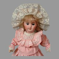 "*Delightful* SFBJ 301 French Antique Doll 14"" with Stamped Body"