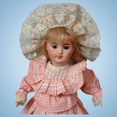 """*Delightful* SFBJ 301 French Antique Doll 14"""" with Stamped Body"""