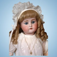 "Kammer & Reinhardt / Simon & Halbig 28"" Antique Bisque Doll w/Human Hair Wig"