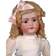 "Huge 30"" Antique Simon & Halbig 1078 Handwerck Bisque Doll in Antique Dress"