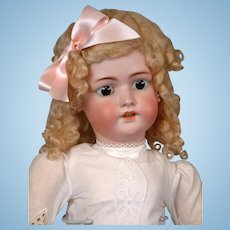 "Huge 30"" Antique Simon & Halbig 1078 Handwerck Bisque Doll in Antique Dress"