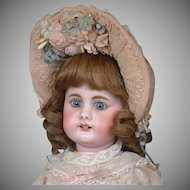 "18"" Darling Antique Simon & Halbig 949 Doll with Square-cut Teeth~in Original Dress!"