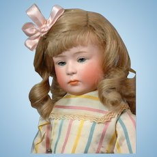 """14.5"""" Gebruder Heubach 6969 Pouty Antique Character Doll c.1912--Just SUPERB"""