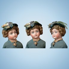 "Rare & Elusive 15.5"" All Original A.T. Kestner Swivel Head Lady Antique Doll"
