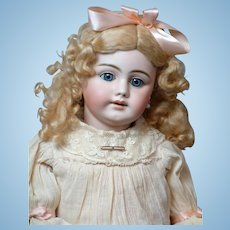 Simon & Halbig 1009 All-Original Antique Doll with Jointed Shoulder Head 25""