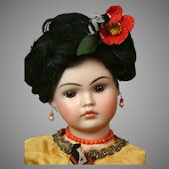 """14.5"""" Antique Bahr & Proschild Oriental 220 Closed Mouth Character Doll C.1890"""