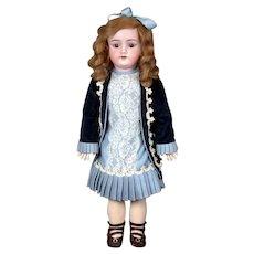 """26"""" Handwerck 119 in Lovely Blue Silk Costume"""