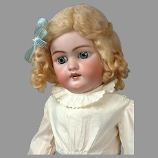 """Sweet 22"""" Antique Simon Halbig 1079 Bisque Doll with Stamped Original Body"""