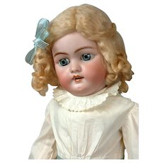 "Sweet 22"" Antique Heinrich Handwerck 1079 Bisque Doll with Stamped Original Body"