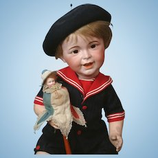 "10.5"" Antique Marotte Doll in ~Original Costume~!"