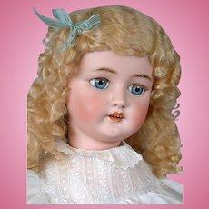 """*Huge* Cm Bergmann / Halbig 29.5"""" Antique Bisque Doll in Wonderful Antique Costume"""